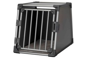 Trixie vervoersbox autobox zijkant grafiet zwart medium large