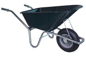 Tuin kruiwagen met verzinkt frame 100 liter