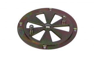 Ventilatie rozet verzinkt 85 mm