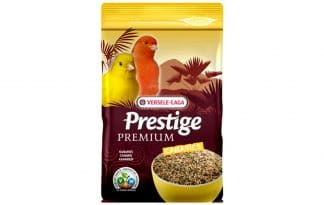 De Prestige Premium Kanarie is verrijkt met een zadenmengeling.