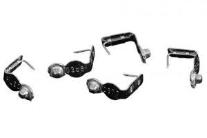 Vleugelmerkjes aluminium per 100 stuks