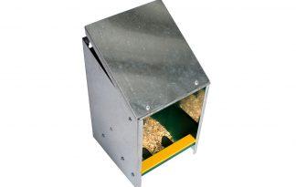 Voersilo verzinkt 2,5 kg met schuine deksel