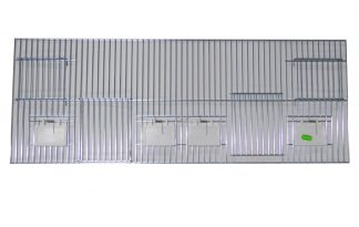 Voorfront met deur, klepjes en nestkastopening 30 x 80 cm