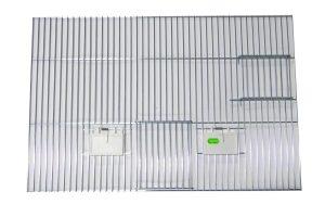Voorfront met deur, klepjes en nestkastopening 40 x 60 cm