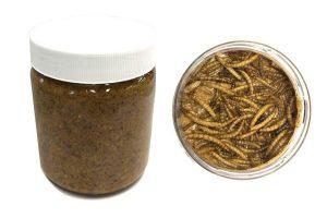 Vogelpindakaas Deluxe - Meelwormen 500 ml