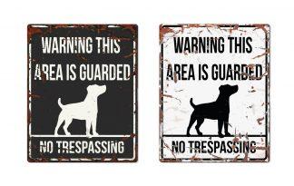 D&D Warning Sign Jack Russel