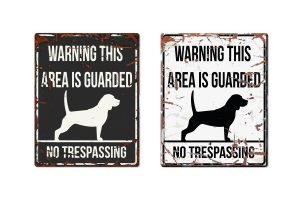 D&D Warning Sign Beagle