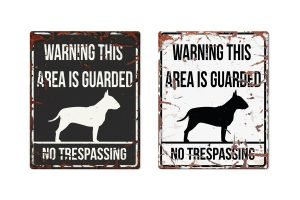 D&D Warning Sign Bull Terrier