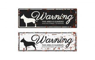 D&D Warning Sign Bull Terrier