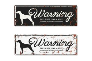 D&D Warning Sign Dalmatian