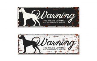 D&D Warning Sign Danish Dog