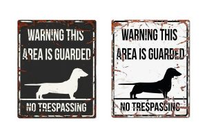 D&D Warning Sign Dachshund