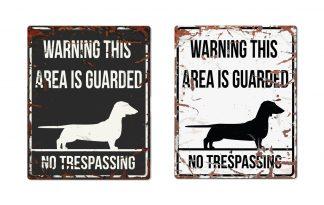 D&D Warning Sign Dachshund