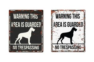 D&D Warning Sign Danish Dog