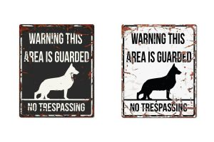 D&D Warning Sign German Sheperd