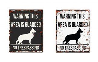 D&D Warning Sign German Sheperd