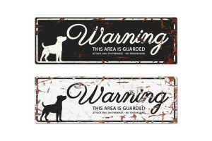 D&D Warning Sign Jack Russel