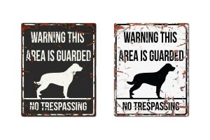 D&D Warning Sign Rottweiler