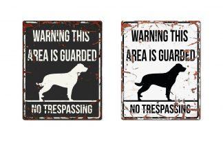 D&D Warning Sign Rottweiler