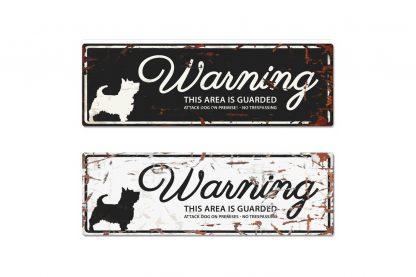 D&D Warning Sign Terrier