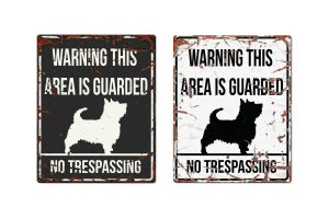 D&D Warning Sign Terrier