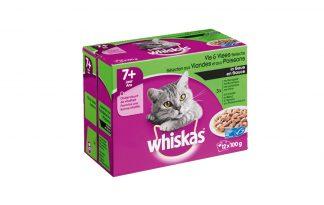 Whiskas Multipack maaltijdzakjes 7+ vlees & visselectie in saus