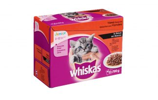 Whiskas Multipack maaltijdzakjes kitten vlees in saus
