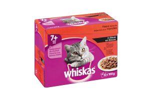 Whiskas Multipack 7+ vlees selectie in saus