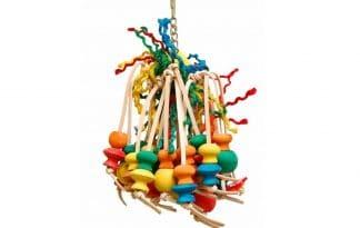 De Zoo-Max Spiddy XL is geweldig speelgoed voor vogels van leer en sisal.
