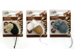 AFP Lambswool Snow Mouse met catnip