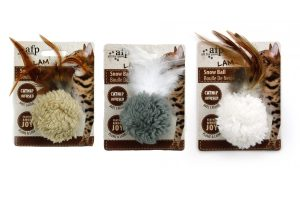 AFP Lambswool Snow Ball met catnip