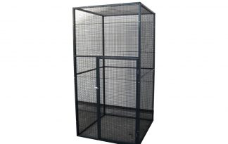 Aluminium volièrepaneel zwart gepoedercoat