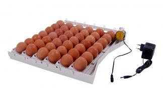 Automatische keerinrichting voor kip- & kwarteleieren