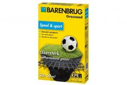 Barenbrug Speel en Sport Gazon graszaad voor een fijn en sterk speelgazon voor dagelijks familiaal gebruik. De grasmat is fijnbladig en goed bestand tegen bespeling.
