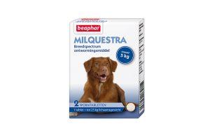 Beaphar Milquestra grote hond 2 tabletten