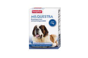 Beaphar Milquestra grote hond 4 tabletten