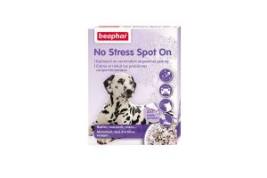 Beaphar No Stress Spot on kalmeert uw hond en vermindert ongewenst gedrag.
