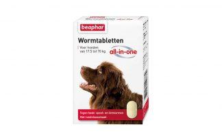 Beaphar Wormtabletten All-in-One 17,5 tot 70 kg tegen wormen.