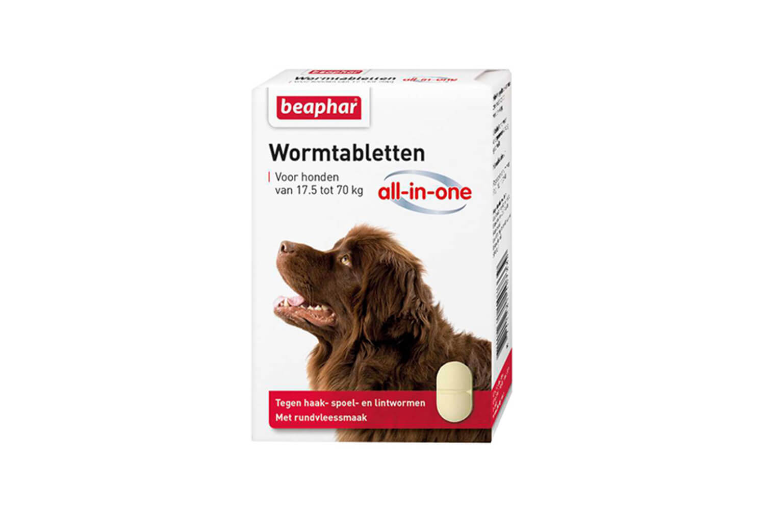 Beaphar Wormtabletten All-in-One 17,5 tot 70 kg tegen wormen.