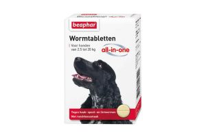 Beaphar Wormtabletten All-in-One 2,5 tot 20kg tegen wormen bij honden.