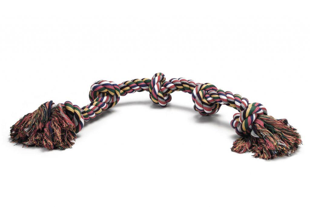 Beeztees flostouw gekleurd trio - 1000 gram - 5 knoops