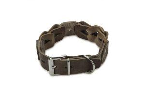 Beeztees lederen halsband Connex grijs