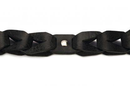 Beeztees lederen halsband Connex zwart