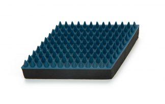 Beeztees rubber massageborstel blauw
