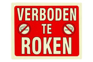 Bord verboden te roken