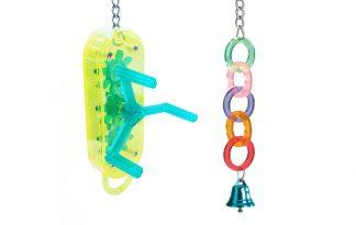 Acryl & plastic vogelspeelgoed