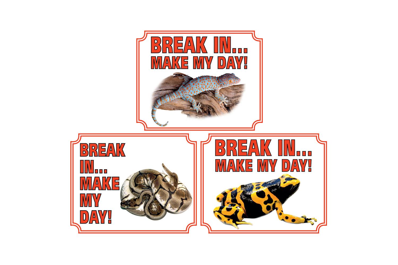 Waakborden voor reptielen & amfibieën