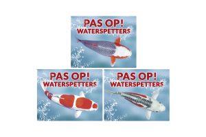Waakborden voor vijvervissen