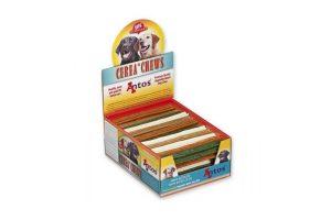 Een gezonde hondensnack waarmee de hond zelf zijn tanden kan poetsen.