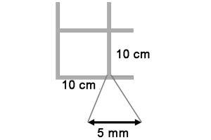 Draadmat verzinkt 180x180 cm - 100x100x5 mm